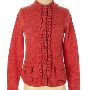 Anthropologie MOTH Orange Cardigan Sweater